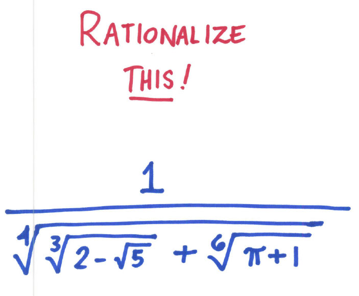 Rationalization Rant Random Walks