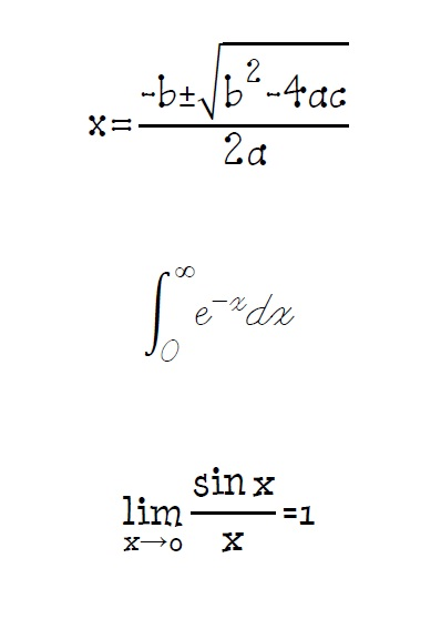 sample math fonts
