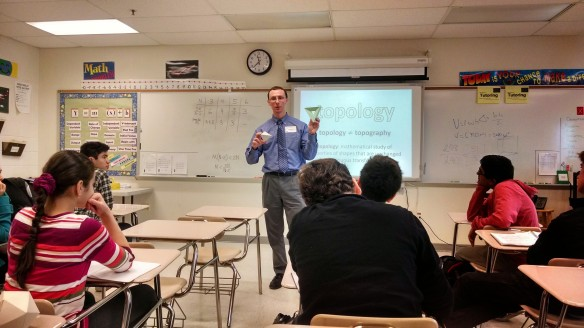 Matthew's topology guest lecture at RMHS